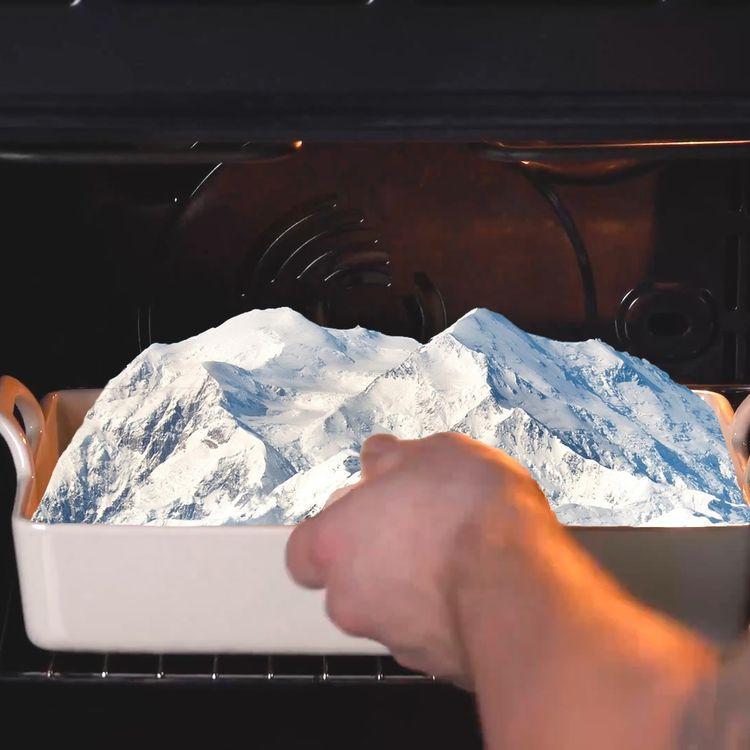 Un postre austríaco recién salido del horno