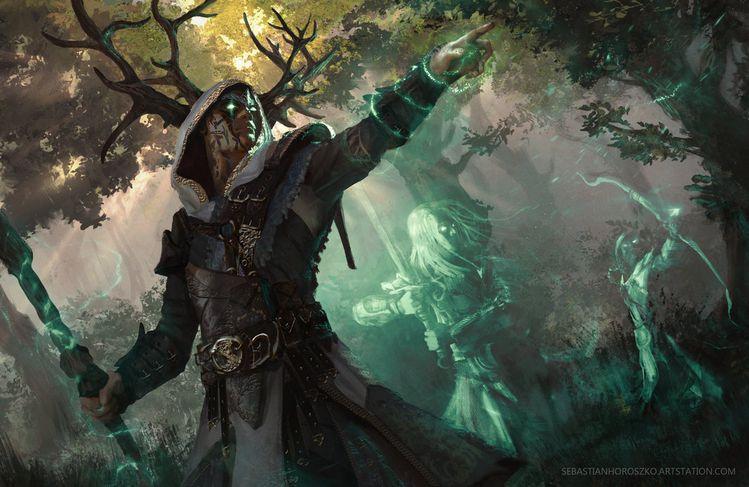 Forrest Defender Digital Art Character Drawings Fantasy Paintings & Airbrushing