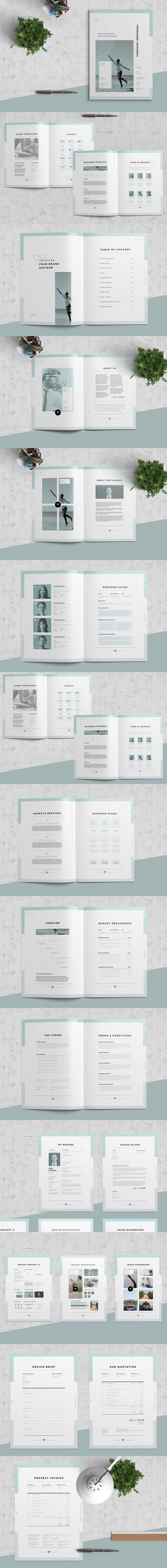 Clean And Professional Proposal Template InDesign INDD