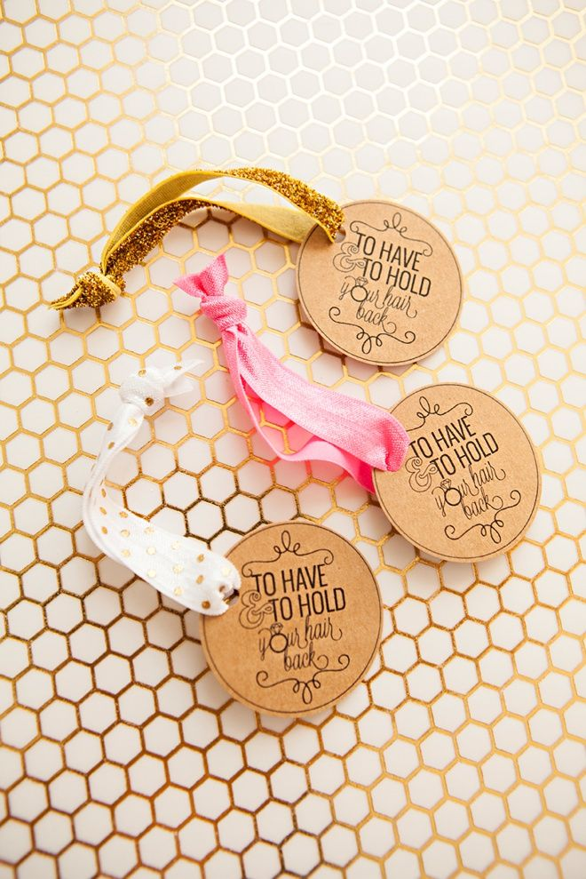 photograph about To Have and to Hold Your Hair Back Free Printable known as Find out how toward generate elastic hair tie favors!