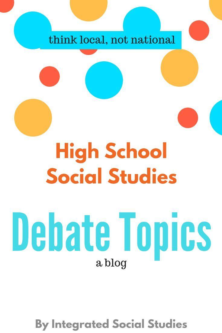 social studies debate topics