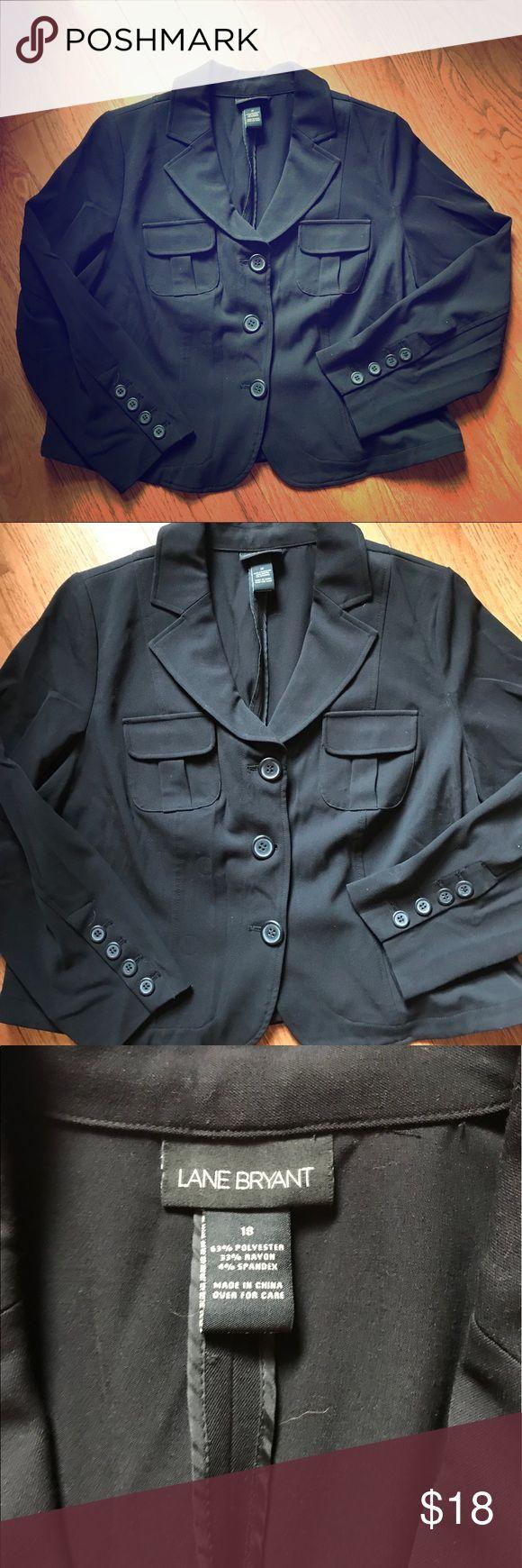 5eec1ea51a285 Black button up lane Bryant suit jacket EUC Super cute and stylish Lane  Bryant Jackets   Coats Blazers