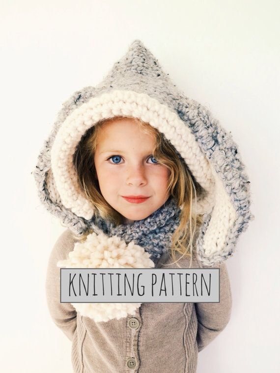 Pattern For Bunny Hat Hood Cowl Scarf Knit Toddler Child A