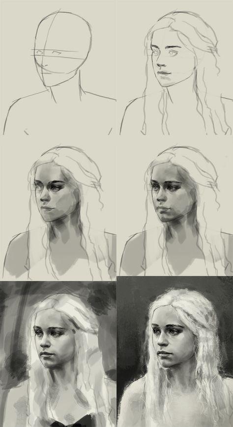 Como desenhar Daenerys