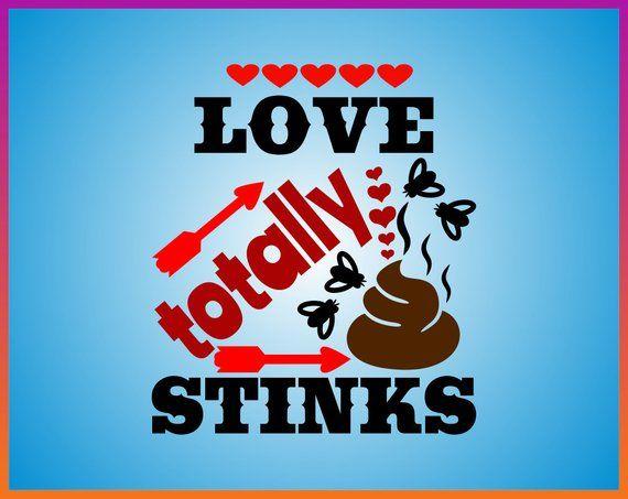 Valentine's Day Toilet Paper SVG Love Totally Stinks SVG Cu