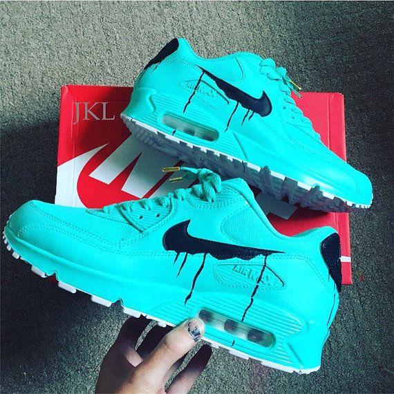 Tiffany schmilzt Nike Air Max Geschenk Box blau air von JKLcustoms