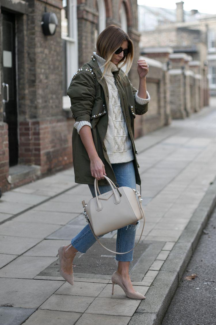 f3859b190026 khaki embellished jacket