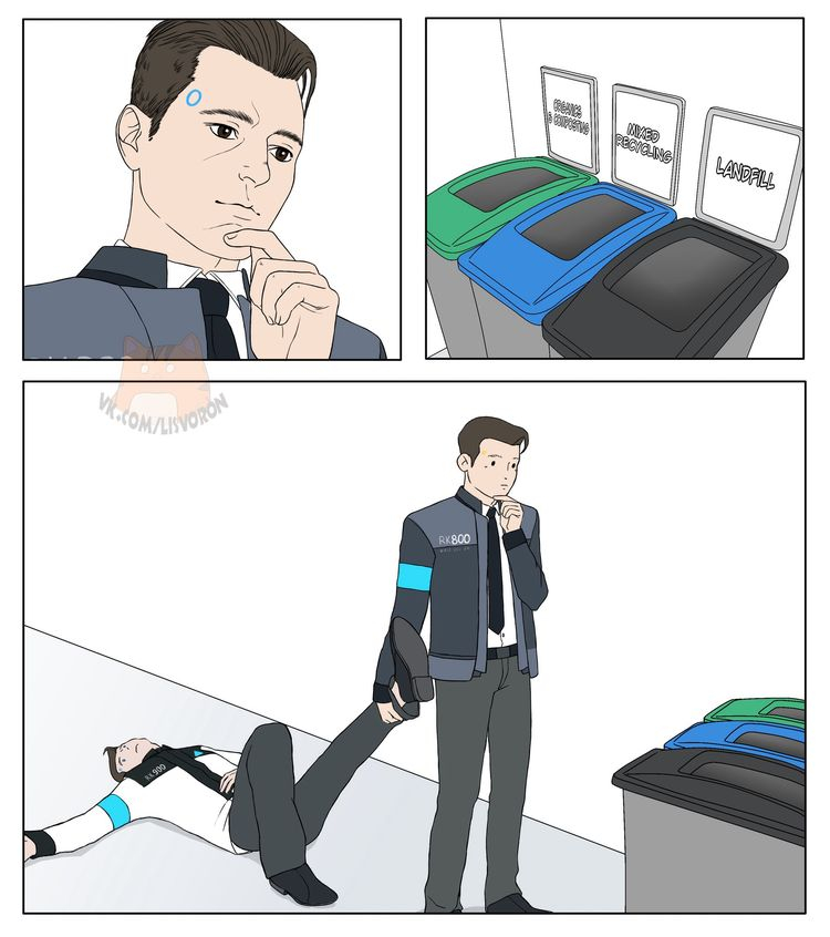 Detroit become human Connor x RK900 By: lisvoron