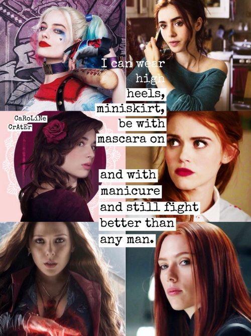 Harley Quinn, Clary Fray, Allison Argent, Lydia Martin, Wanda Maximoff, Natasha Romanoff