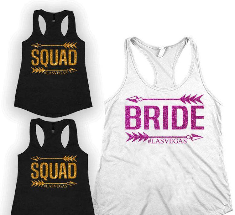Bridesmaids Shirts | Bride Squad Bridesmaids Shirt Bachelorette Party Shirt Br