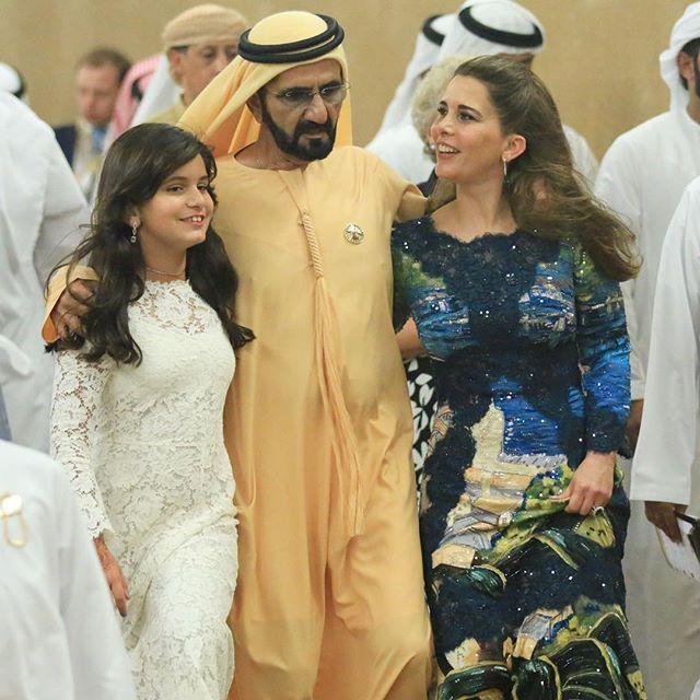 Al Jalila Bint Mohammed Bin Rashid Al Maktoum Con Sus Padre