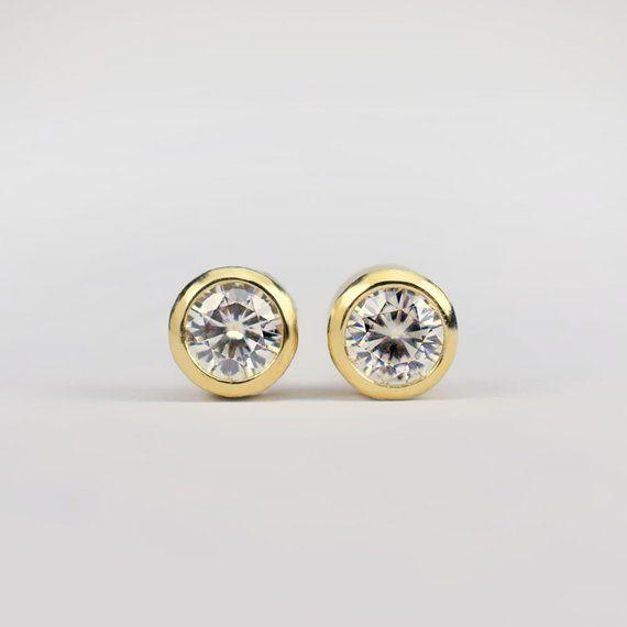 Diamond Stud Earrings Small Canadian Diamonds Ready To Ship Minimalist