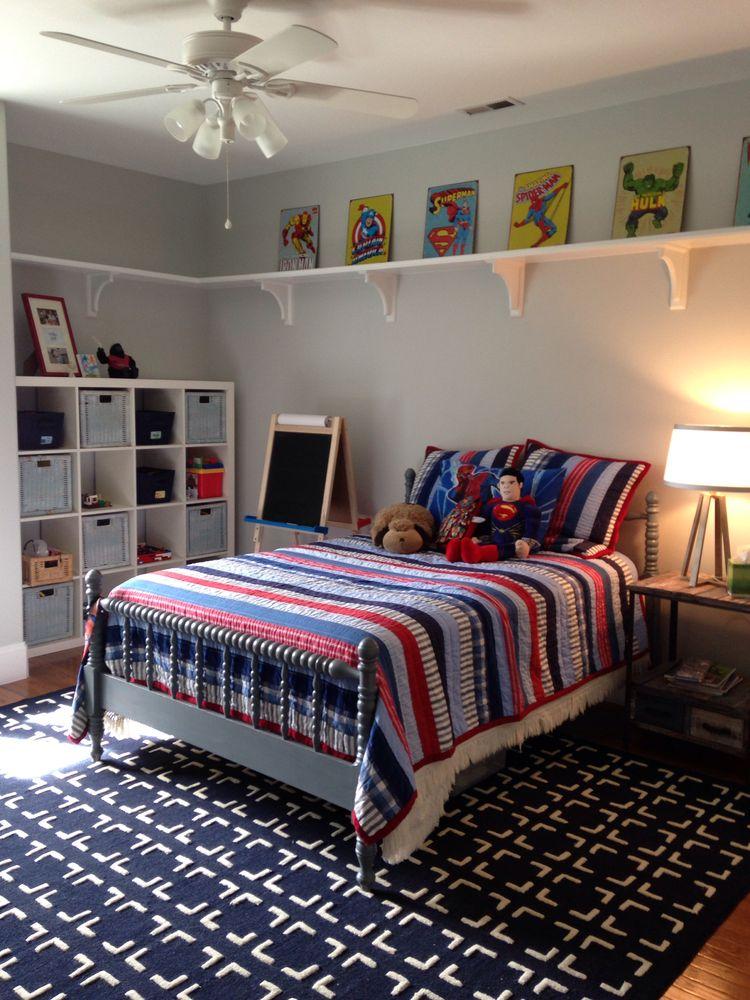Book Shelf Above Bed