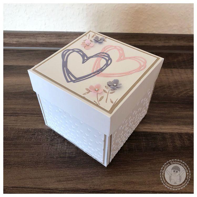 Stampin Up Explosionsbox Zur Hochzeit Im Vintage Stil