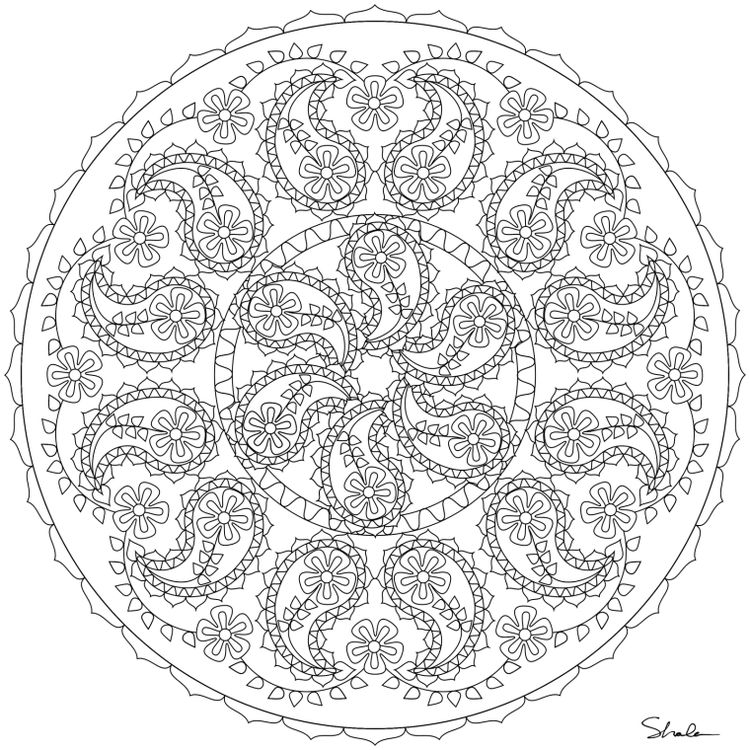 Mandala Boyama Sayfalar Mandala Boyama Sayfaları Mandal
