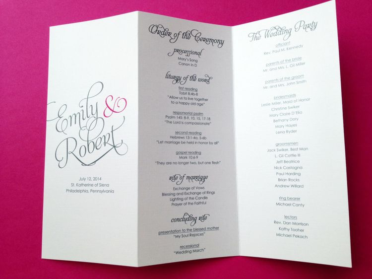 wedding programs trifold wedding programs by littlesparkcr