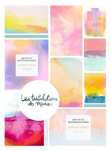 Erfahren Sie, wie Sie einen bunten Hintergrund mit Aquarellfarben erstellen: Mehrfachnutzung ...