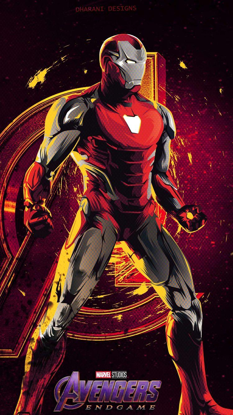 Iron Man Avengers Endgame MK 85 Armor IPhone Wallpaper