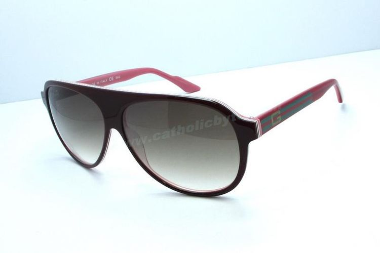 7460c565fd New Authentic Gucci GG 3636 S Round Red Brown Sunglasses Discount For Sale