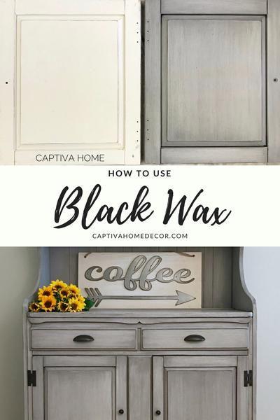 """Smoky Pearl"" Furniture Painting Technique- Captiva - Maison Blanche – Captiva Home #DIY #blackwax #maisonblanche #chalkpaint"