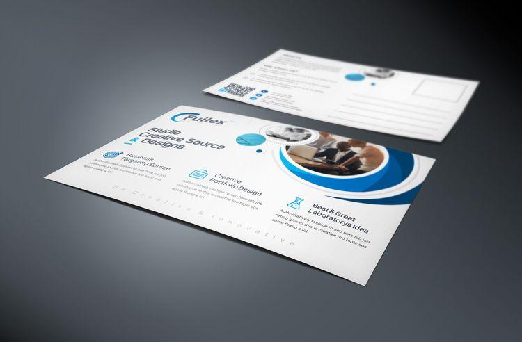 Attis Modern Elegant Postcard Template - Graphic Templates