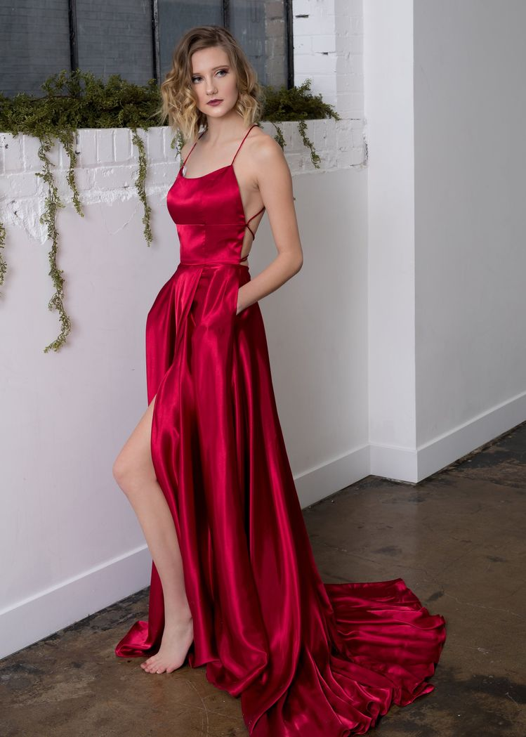Sherri Hill Red Flowy Valentines Day Dress Ypsilon Dresses