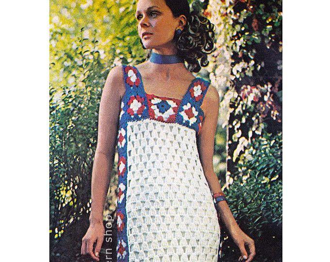 4d4fda58910fe Crochet Bikini Pattern Granny Square Hippie Bikini Crochet Pattern Womens Swimsuit  Pattern Instant Download PDF - C18