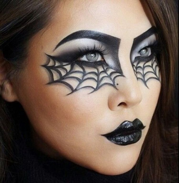 cobweb halloween makeup facepaint ideas