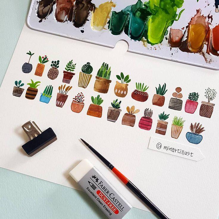 succulent doodle diy