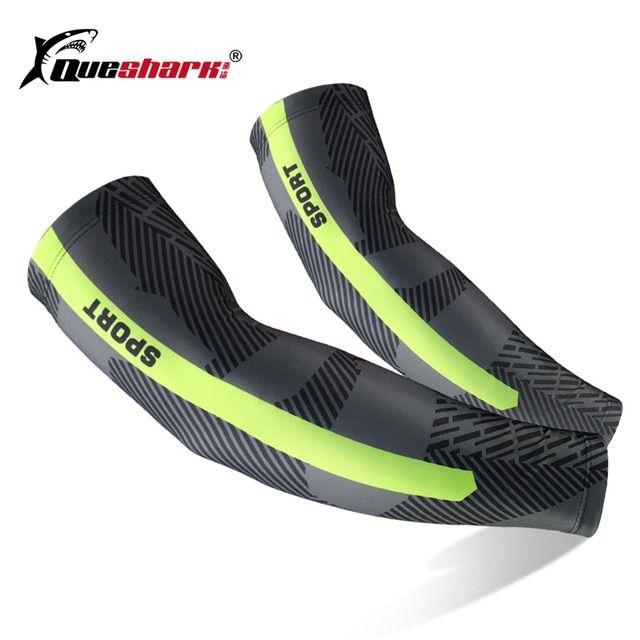 514e7f238e 1Pcs Men Women UV Protection Compression Running Cycling Arm Sleeve Sports  Bike Basketball Arm warmers Golf