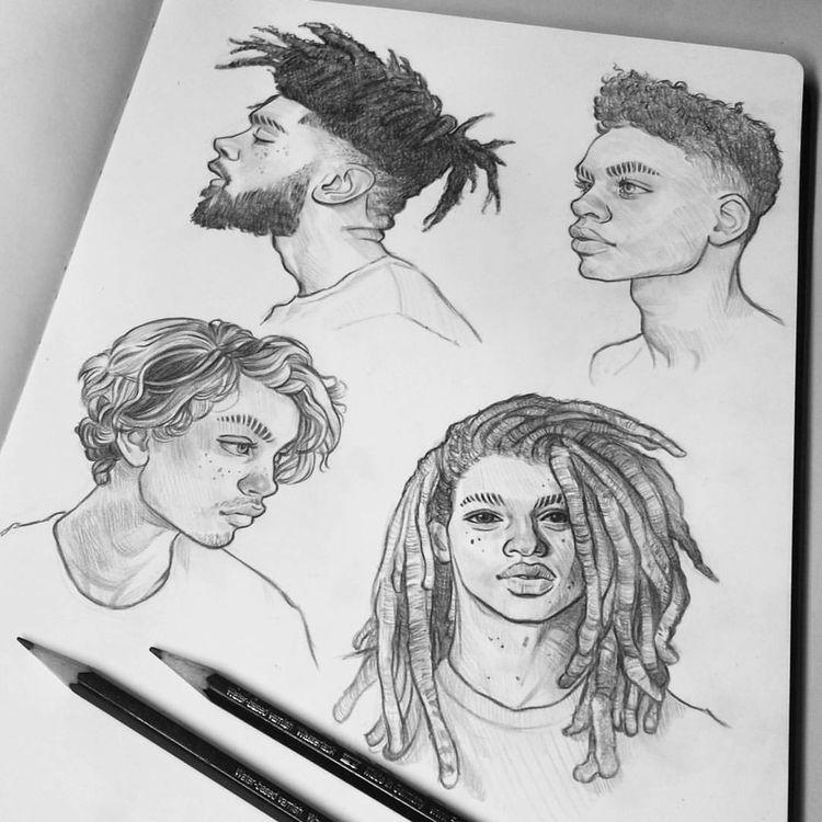 "Tomasz Mro Art no Instagram: ""Tentando alguns estudos sobre caras 😖✏ |  #tomaszmro #mrozkiewicz """