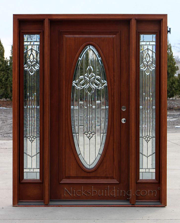 exterior mahogany door with sidelights oval