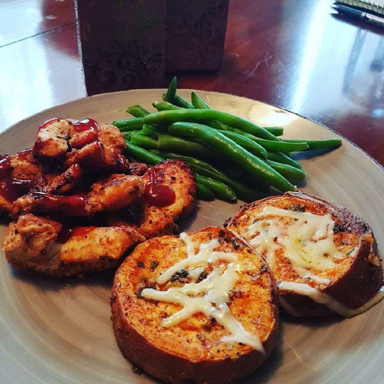 Smashing your sweet potatoes makes them extra crispy on the outside, but crispy on the inside. Get the recipe at Delish.com. #delish #easy #recipe #sweetpotato #potato #smashed #healthy #whole30 #paleo