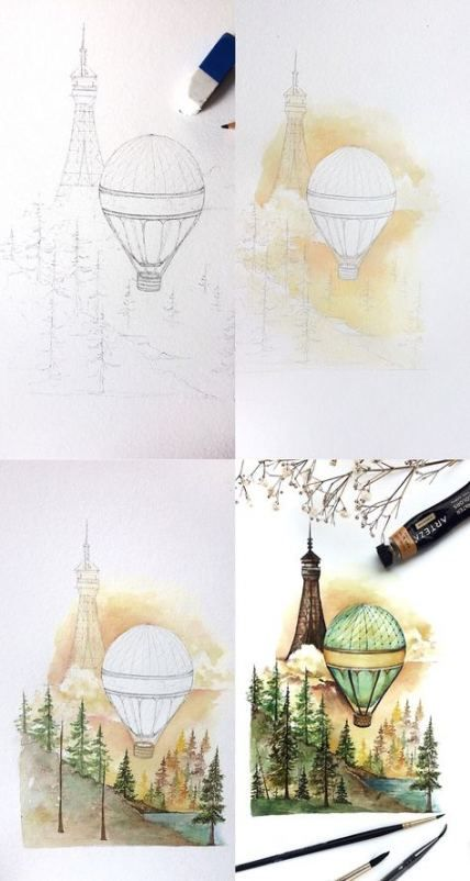 Best Painting Tutorial Step By Step Watercolor 33+ Ideas