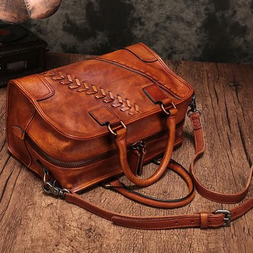 1eba444892 Vintage Leather Woven Handbags Purse Bags