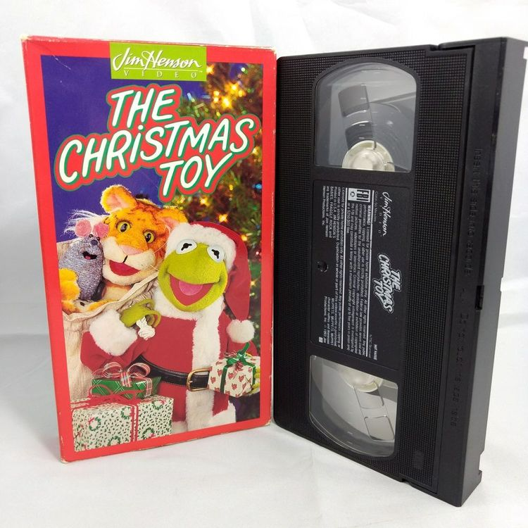 Jim Henson The Christmas Toy VHS Kermit the Frog Muppets C