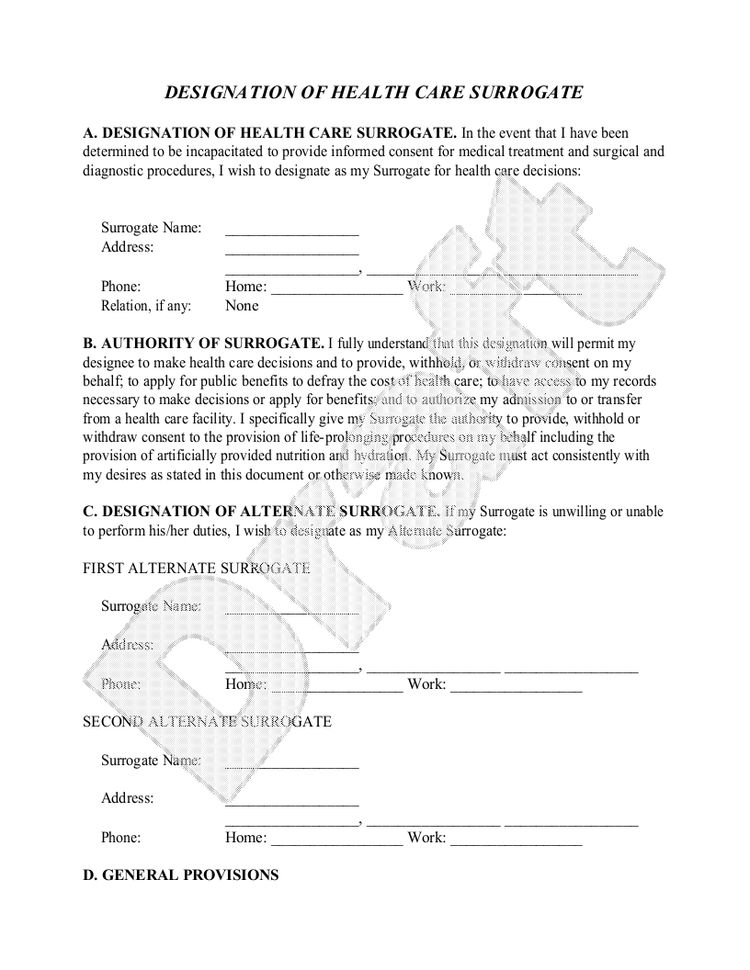 sample florida healthcare power of attorney form template