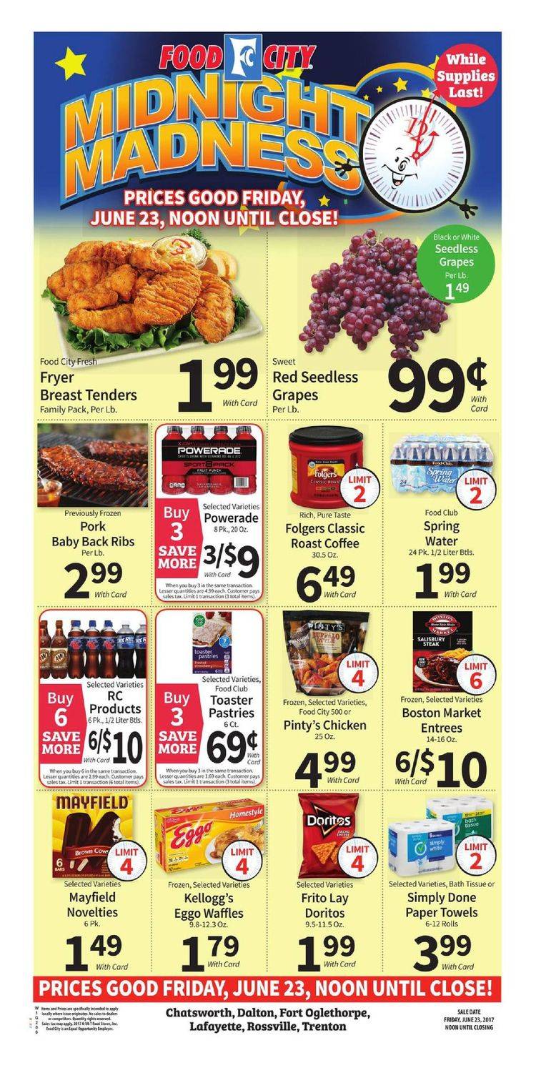 Food City Midnight Sale June 23 2017 Food City Grocery