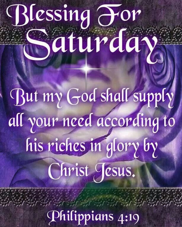 Saturday Blessing God Starts To Bless When The Devil St