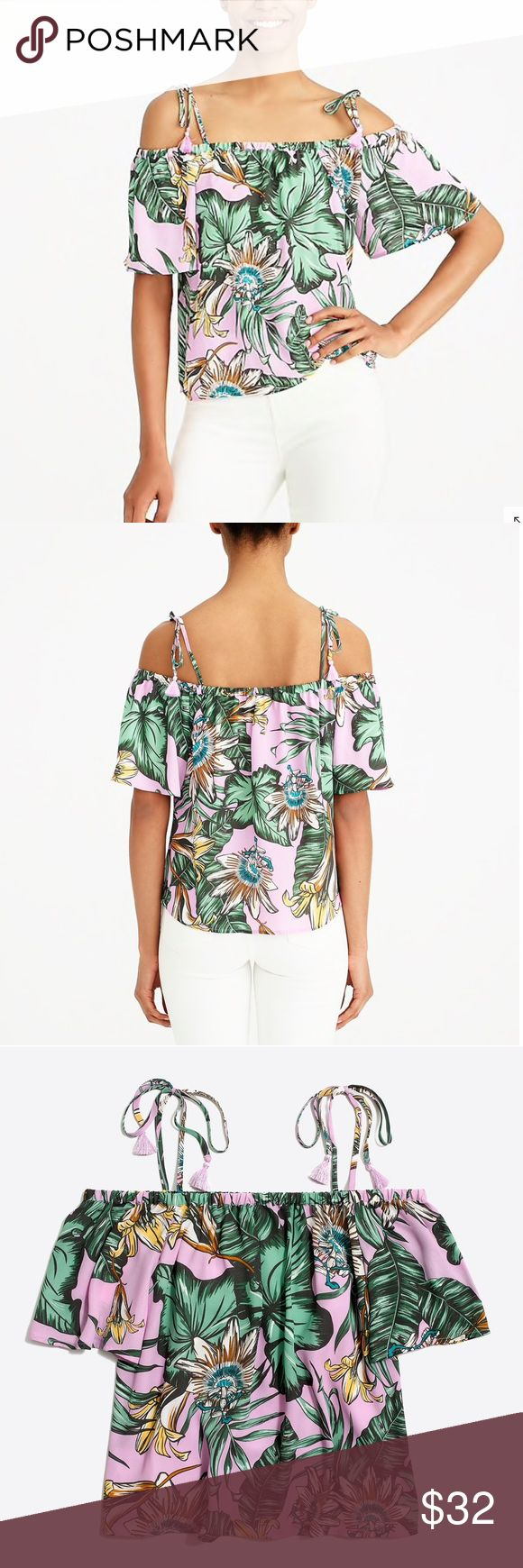 841ad115ef6c6 💚🖤NWT J. Crew Tie Cold-Shoulder Blouse ⬇  30 NWT-IN ORIGINAL  PACKAGING-PERFECT CONDITION J. Crew Smoky Lilac Tie Cold Shoulder Blouse  Various Sizes 100% ...