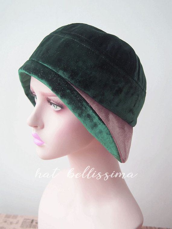 afc07c61747 green 1920 s Cloche Hat Vintage Style hat winter Hats hatbellissima ladies  hats millinery Hats with a Brooch