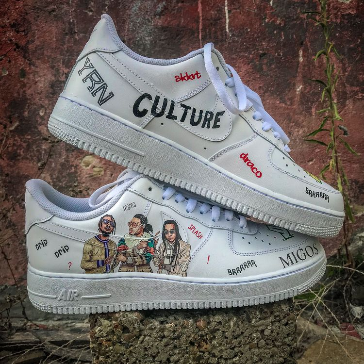 Custom Nike Air Force 1  Migos