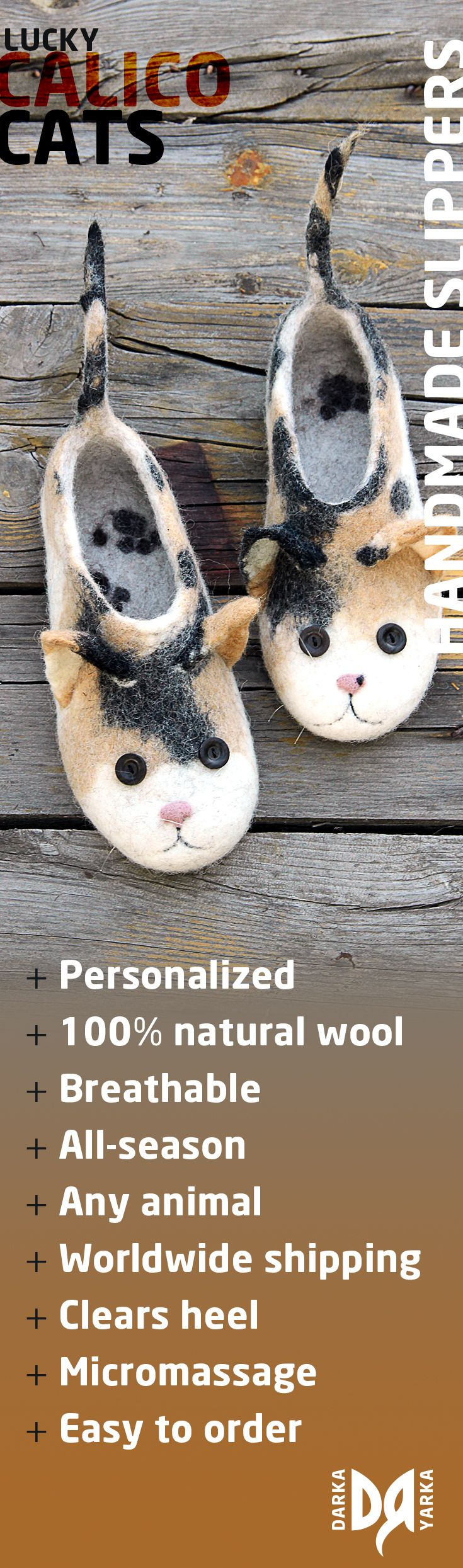 Calico cats slippers, tortoiseshell, tricolor, toys, animals