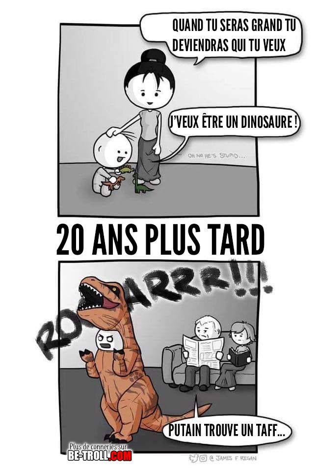 Je veux être un dinosaure ! - Be-troll.com