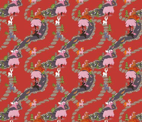Colorful fabrics digitally printed by Spoonflower - Zen Unicorns - Small