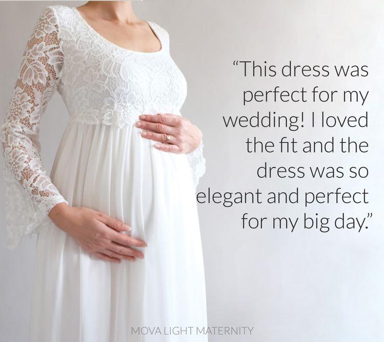 e4ad90558a Pregnancy Wedding Maternity Dress