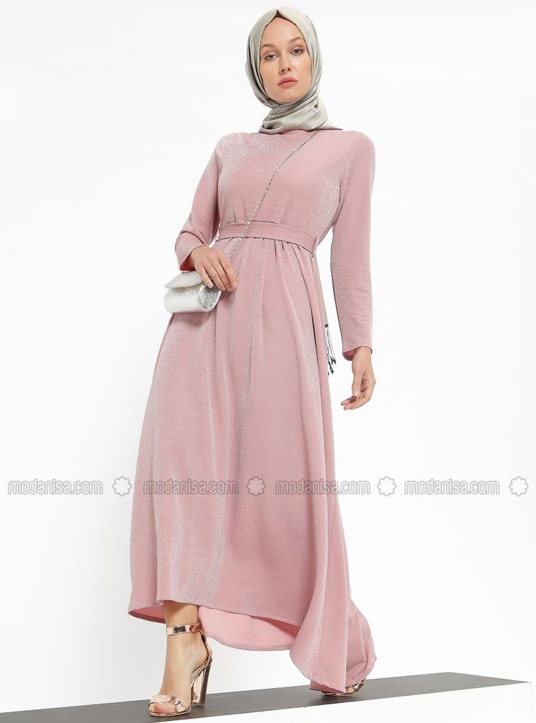97d3187be1b24 Powder - Unlined - Crew neck - Muslim Evening Dress
