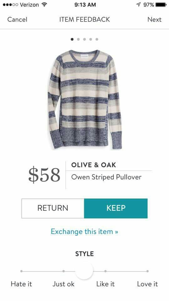 I like the colors and stripes on this pullover!