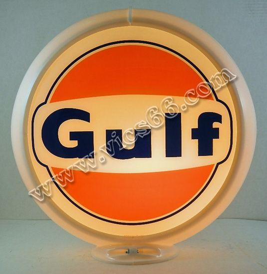Original Gas Pump Globes   13 5 Inch Gas Pump Globes - Vic'