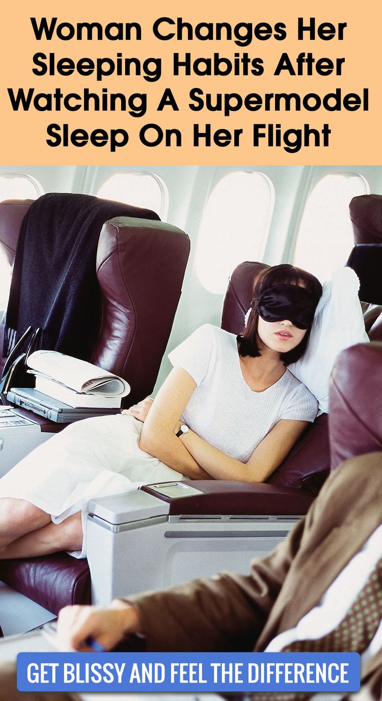 I Changed My Sleeping Habits After Watching A Supermodel Sleep On The Plane